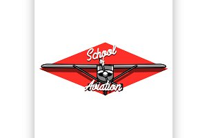 Color vintage Aviation emblem
