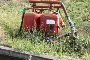 Agriculture pipes and tap