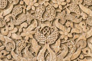 Islamic ornaments on wall