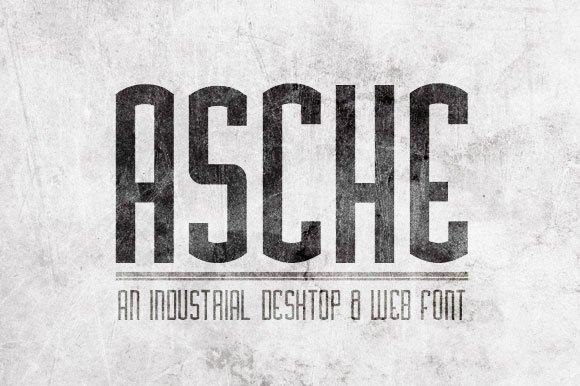 Asche Font Sans Serif Fonts Creative Market
