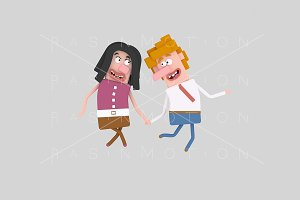 3d illustration. Lovely couple.