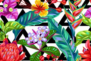 Patterns with Thailand flowers.