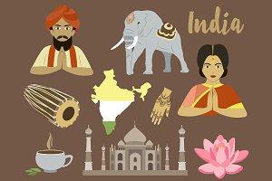 India icon set