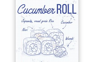 Cucumber Roll recipe