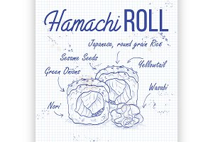 Hamachi Roll recipe