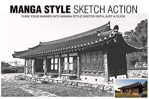 Manga Style Sketch Effects