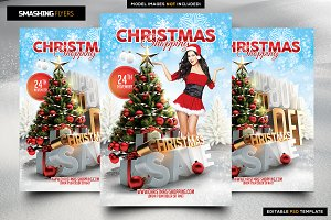 Christmas Shopping Flyer Template