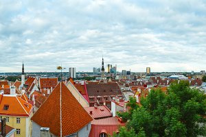 Tallinn City summer panorama