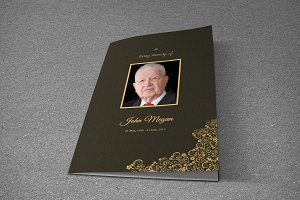Funeral Program Template-T609