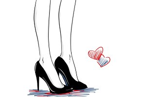 Pretty woman legs in court shoes
