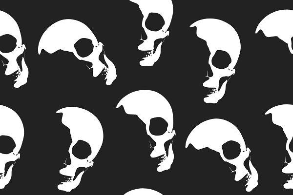 Halloween skull seamless paper