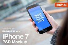 iPhone 7 Black PSD Mockup