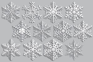 Snowflake made ​​of paper.