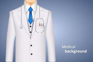Lab white coat medical background
