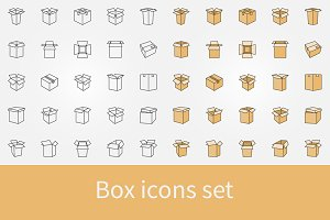 Box icons set