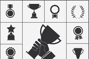 Trophy and award icons