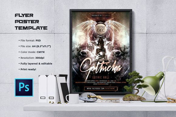 Gothic Rock Flyer / Poster Template