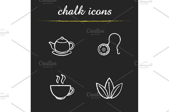 Tea. 4 icons. Vector - Icons