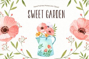 Sweet Garden Watercolor clipart
