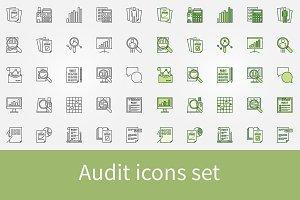 Audit icons set