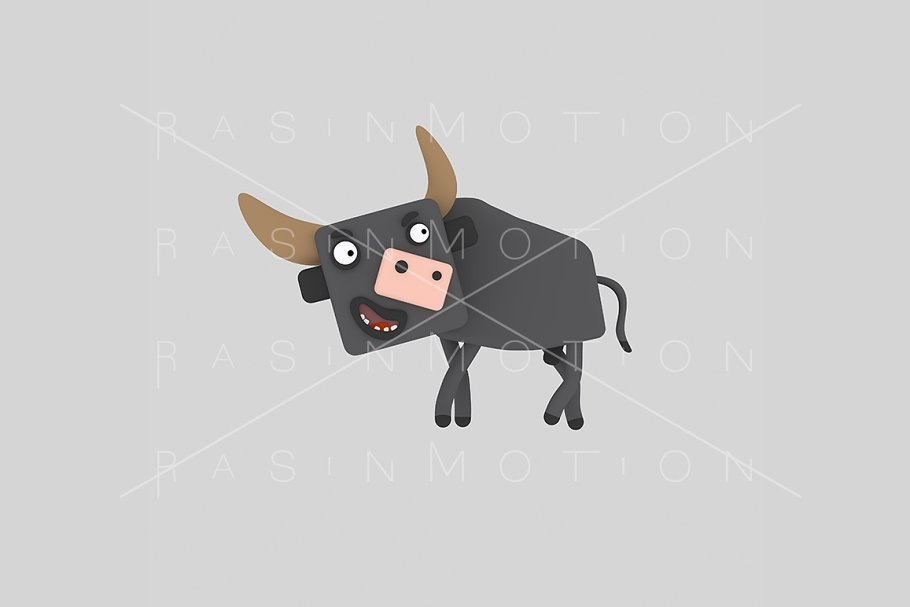 3d illustration. Bull.