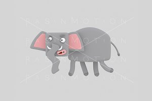 3d illustration. Elephant.