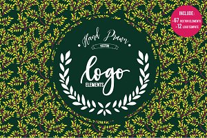 HAND DRAWLogo Design Element Kit