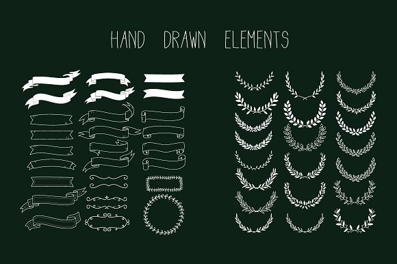 HAND DRAWLogo Design Element Kit  in Illustrations - product preview 1