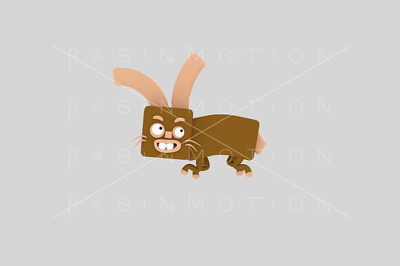 3d illustration. Rabbit.