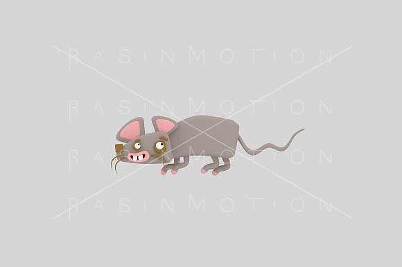 3d illustration. Mouse.