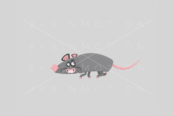 3d illustration. Rat.