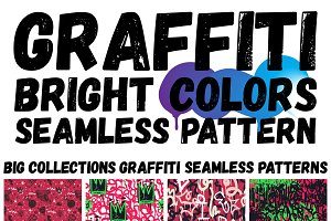 Graffiti color seamless patterns