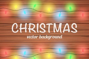 Editable Christmas wooden background