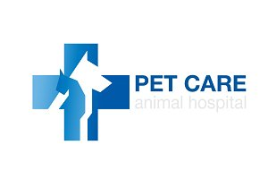 veterinary logo. icon cross