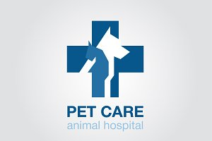 flat icon. veterinary cross. dog cat
