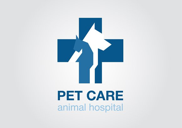 flat icon. veterinary cross. dog cat - Icons