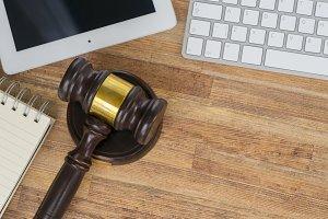 Workspace hero header with law gawel