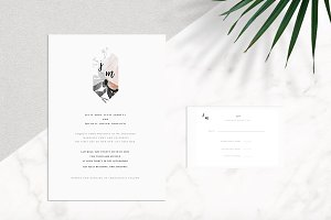 Modern Floral Wedding Invitation Kit