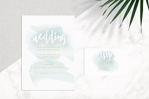 Watercolor Handwritten Invitation