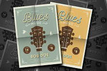 Vintage Jazz & Blues Guitar Flyer