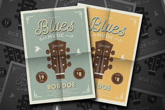 Vintage Jazz & Blues Guitar Flyer