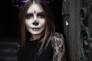 Halloween Skeleton Witch