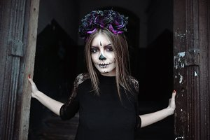 Dark make-up, conceptual idea for Halloween