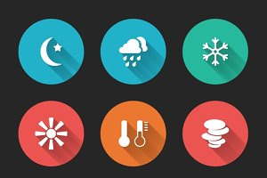 Meteorological icons