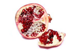 lice of red sweet pomegranate