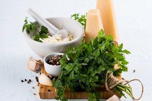 Parsley pesto ingredients