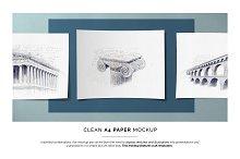 Clean A4 Paper Mockup