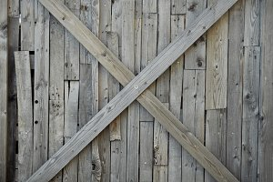 Wooden cross wall