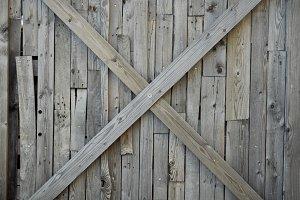 Wooden cross wall