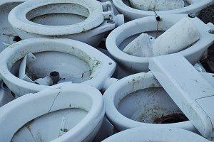 Junk toilet bowls